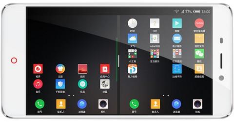 В Nubia N1 экран можно разделить на 2 половины