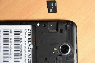 Слот карты памяти в ZTE Blade A520